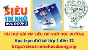 Tài trợ gói VIP Siêu Trí Nhớ Học Đường Nguyễn Phùng Phong